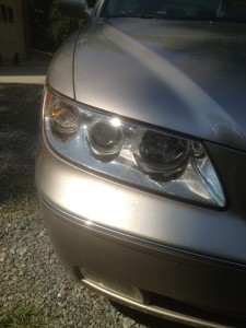 reconditioned headlight after pic